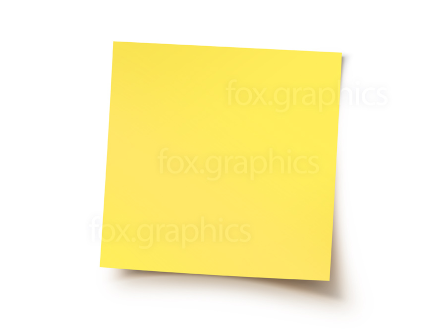 Yellow sticky note, PNG