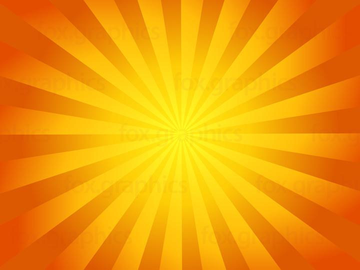 Yellow sunbeam, vector