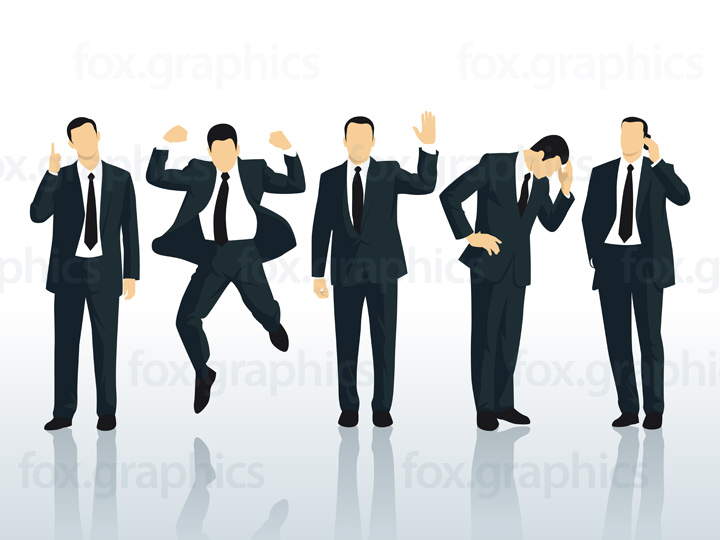 Vector businessman characters