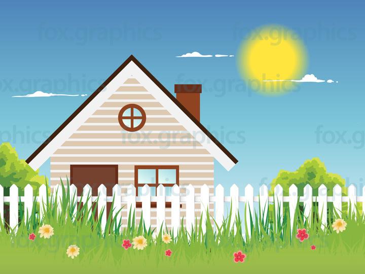 Vector cottage illustration