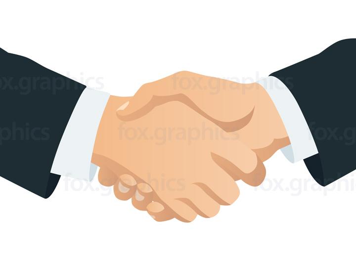 Vector handshake illustration