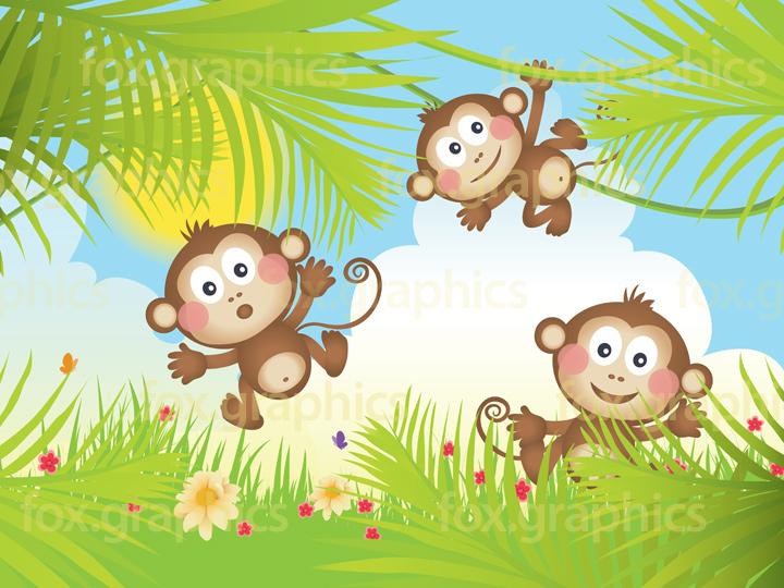 Vector monkeys background