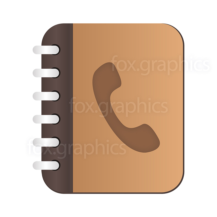 Vector phone book icon