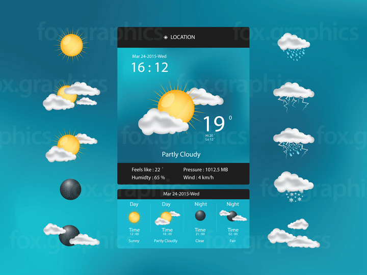 Weather app user interface