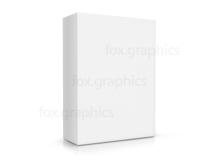 Blank white box, PSD