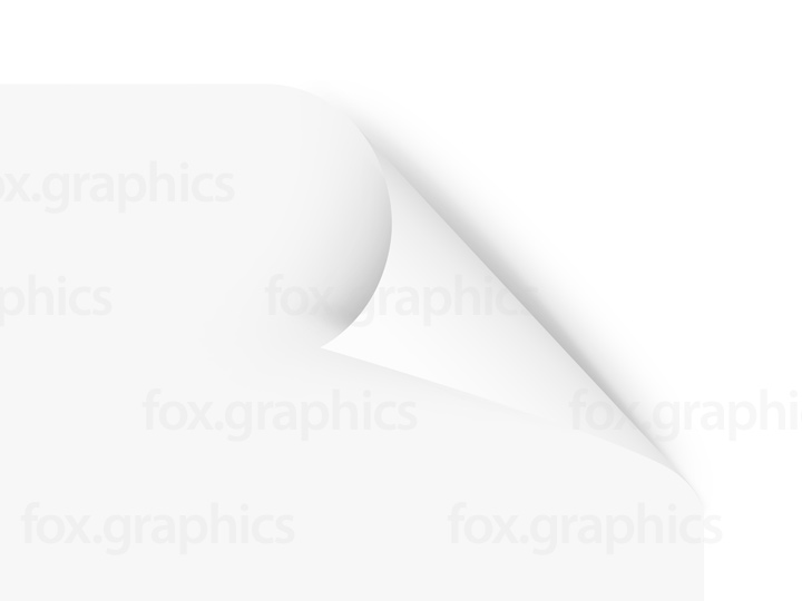 Blank white page curl (PSD)