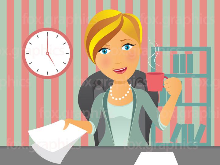 Woman boss illustration