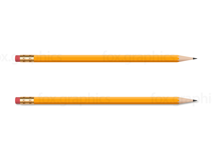 Wooden yellow pencil, PNG
